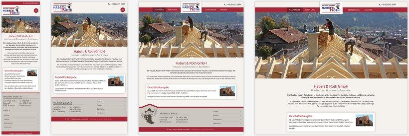 Webdesign von Holzbau Haberl-Roth