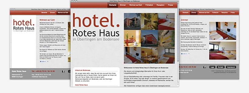 Webdesign von Hotel Rotes Haus
