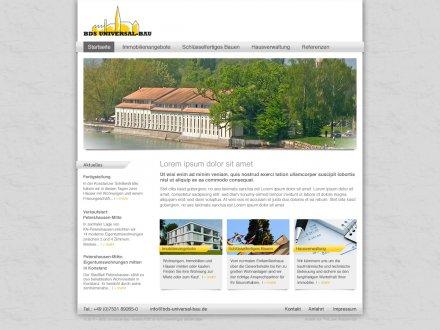 Webdesign von BDS Universal-Bau