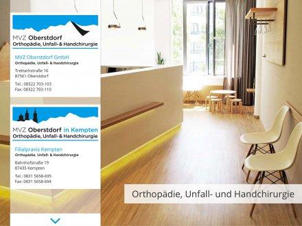 Webdesign von MVZ Oberstdorf
