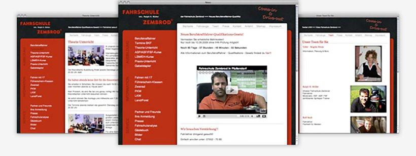 Webdesign von Fahrschule Zembrod