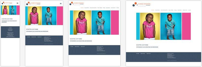 Webdesign von Schatten Licht Farbe