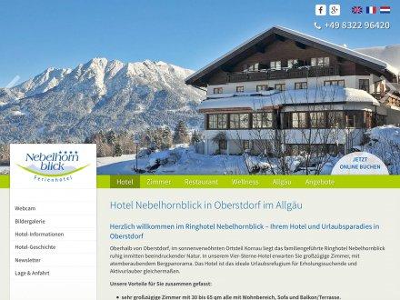 Webdesign von Hotel Nebelhornblick