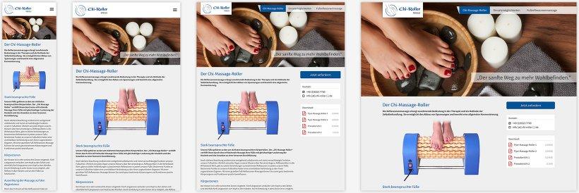 Webdesign von Der Chi-Massage-Roller