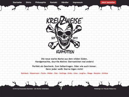 Webdesign von Kreuzweise Klamotten