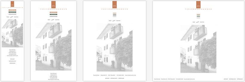 Webdesign von Haus Zita