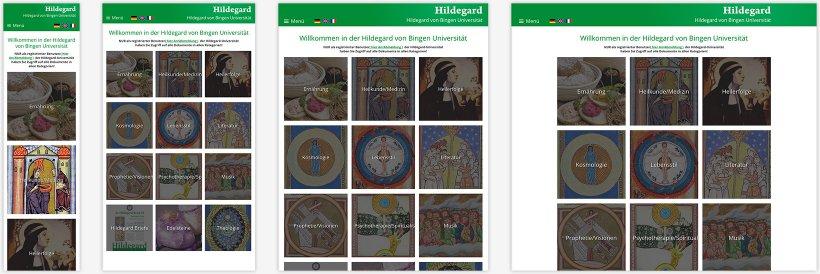 Webdesign von Hildegard von Bingen Universität