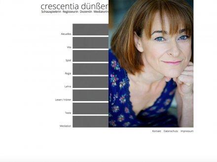 Webdesign von Crescentia Dünßer