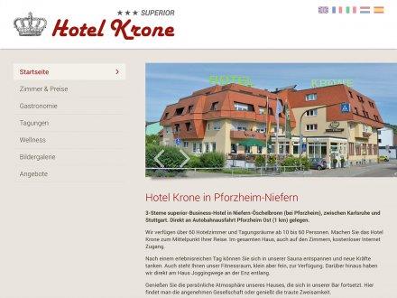 Webdesign von Hotel Krone