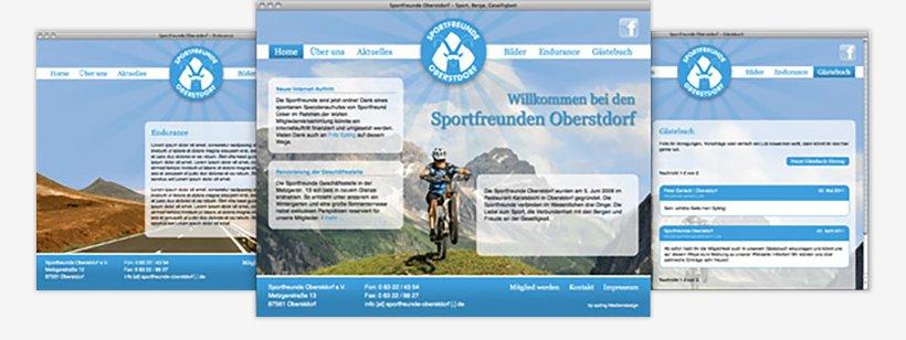 Webdesign von Sportfreunde Oberstdorf