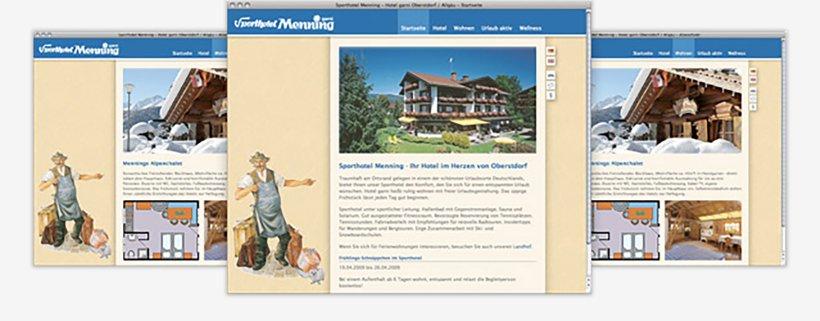 Webdesign von Sporthotel Menning