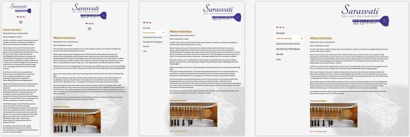Webdesign von Sarasvati