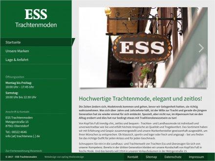 Webdesign von Trachten ESS