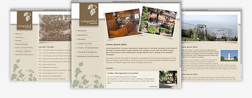 Webdesign von Gutsgasthof Badhütten