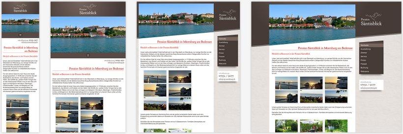 Webdesign von Pension Säntisblick