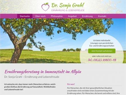Webdesign von Dr. Sonja Grahl