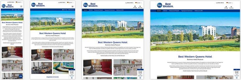Webdesign von Queens Hotel
