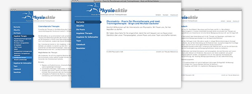 Webdesign von Physioaktiv