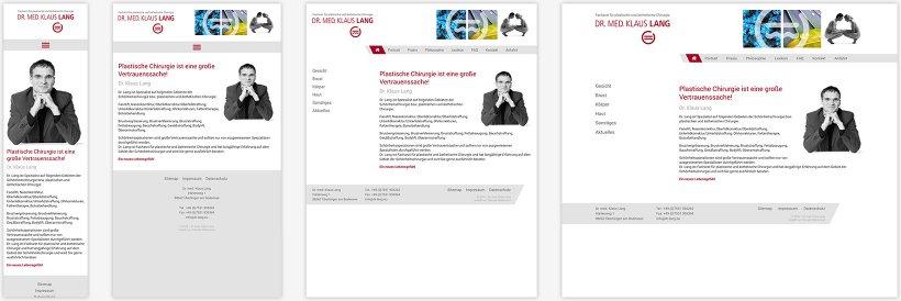 Webdesign von Dr. Lang