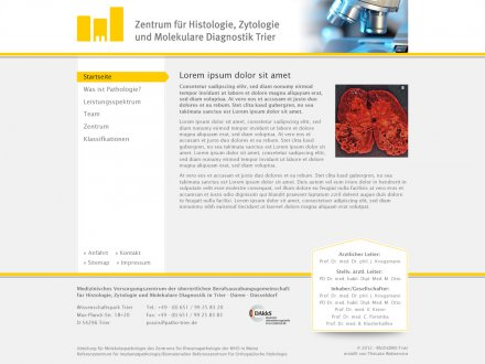 Webdesign von Pathologie Trier