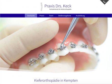 Webdesign von Praxis Drs. Keck