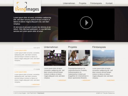 Webdesign von Living Images