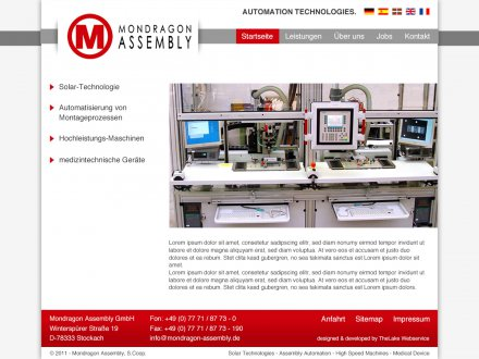 Webdesign von Mondragon Assembly
