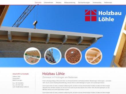 Webdesign von Holzbau Löhle