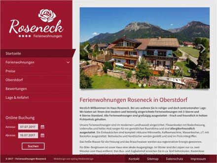 Webdesign von Haus Roseneck