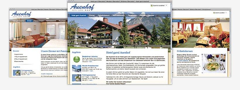 Webdesign von Hotel garni Auenhof