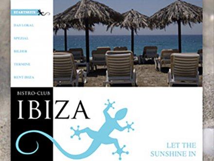 Webdesign von Bistro Club Ibiza