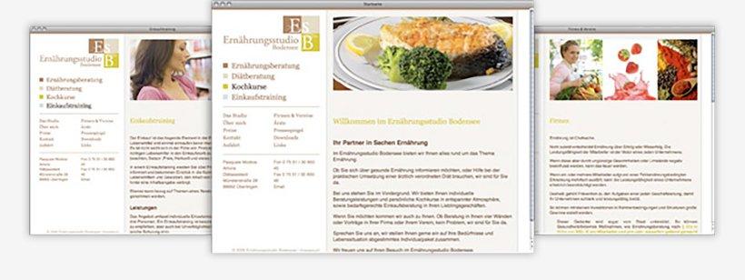 Webdesign von Ernährungsstudio Bodensee
