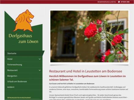 Webdesign von Dorfgasthaus zum Löwen