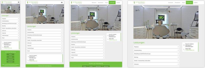 Webdesign von Praxis Dr. Liebstein