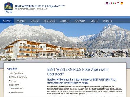 Webdesign von Hotel Alpenhof
