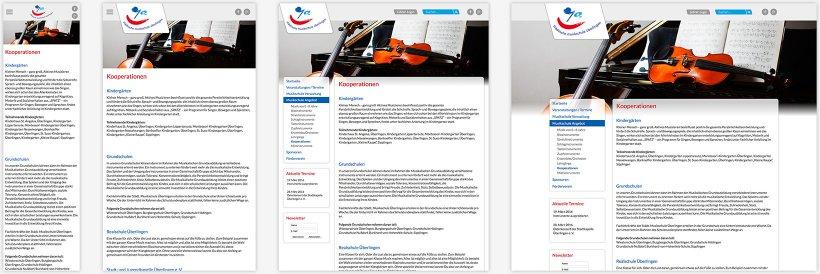 Webdesign von Musikschule Überlingen