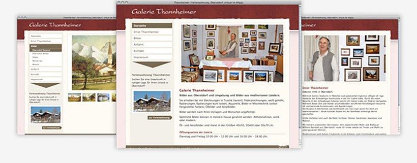 Webdesign von Galerie Thannheimer