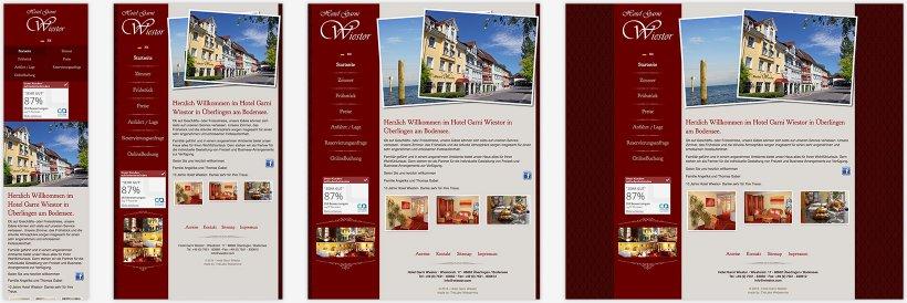 Webdesign von Hotel Garni Wiestor