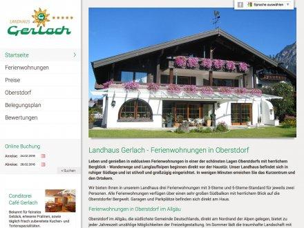 Webdesign von Landhaus Gerlach