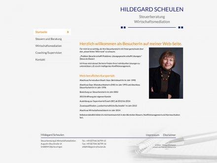 Webdesign von Hildegard Scheulen