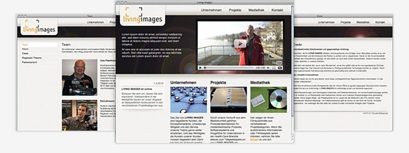 Webdesign von Living Images