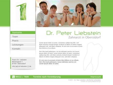 Webdesign von Dr. Peter Liebstein