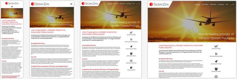 Webdesign von SigmaZen