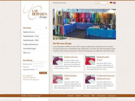 Webdesign von Ute Bernsen Design