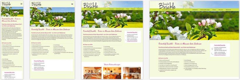 Webdesign von Ferienhof Buschle