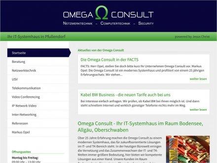 Webdesign von Omega Consult