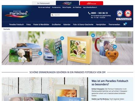 Webdesign von dm Foto Paradies
