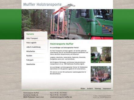 Webdesign von Holztransporte Muffler