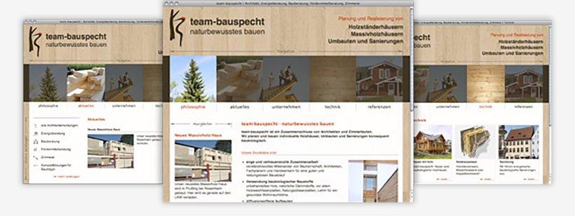 Webdesign von Team Bauspecht