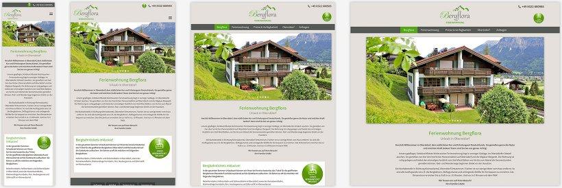 Webdesign von Ferienwohnung Bergflora